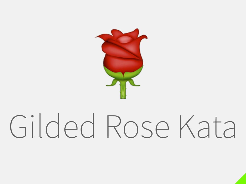 Gilded Rose Kata