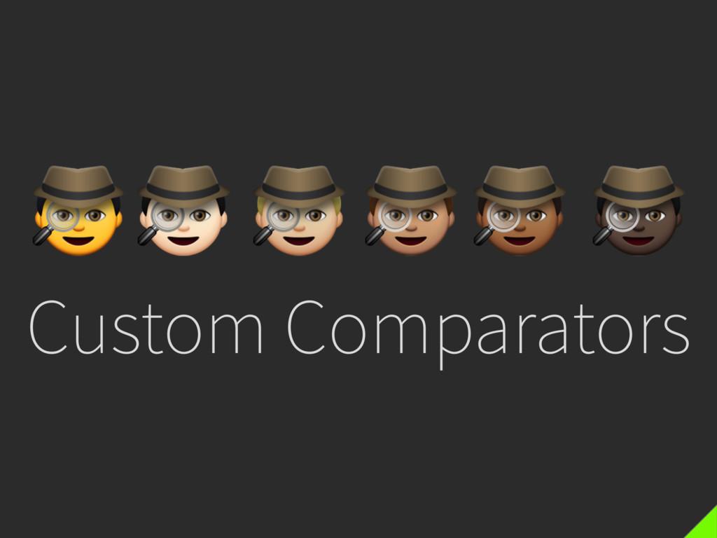 Custom Comparators p q r s t