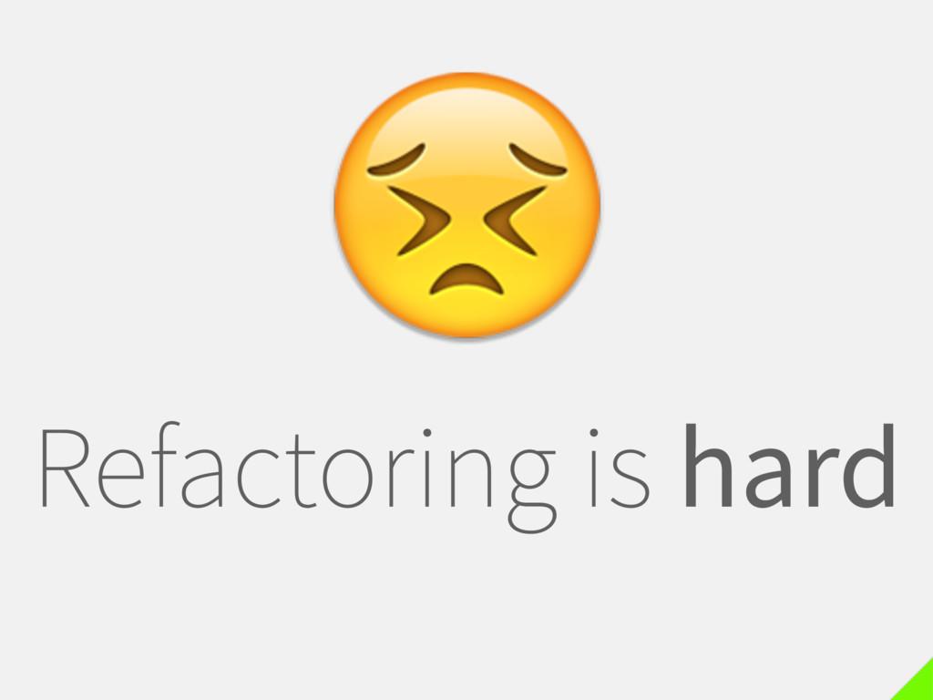 Refactoring is hard