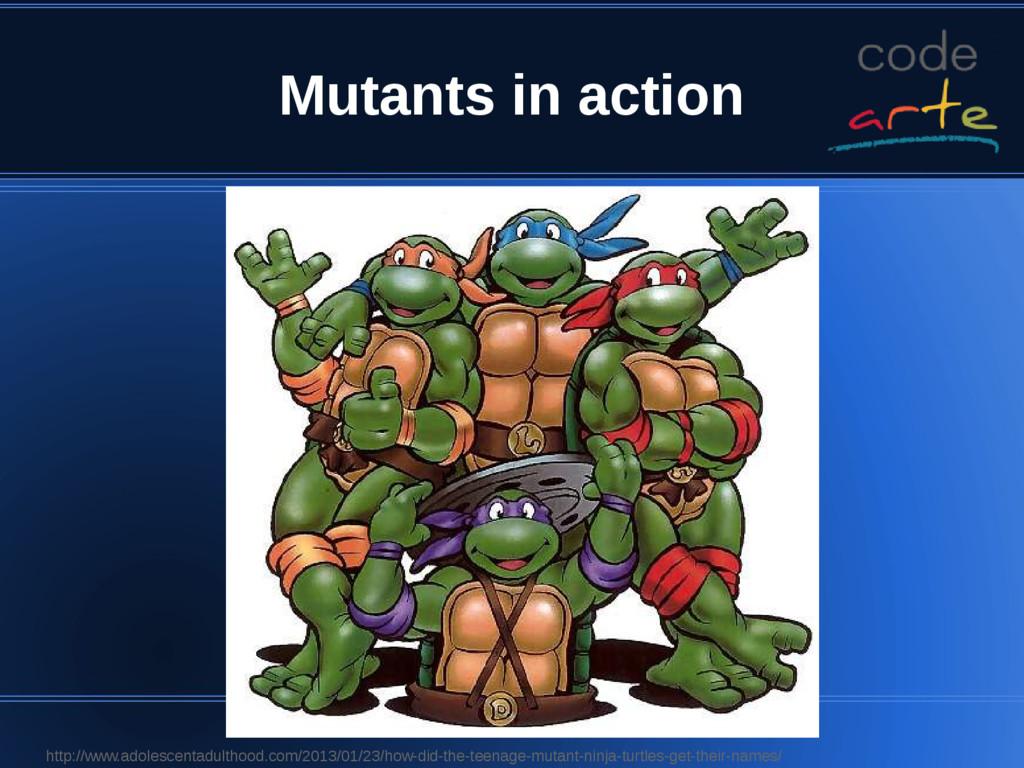 Mutants in action http://www.adolescentadulthoo...