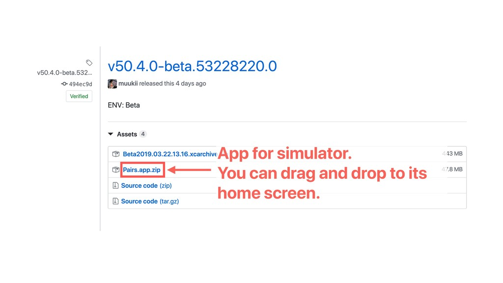 App for simulator. You can drag and drop to its...