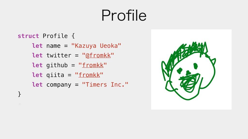 "1SPpMF struct Profile { let name = ""Kazuya Ueok..."