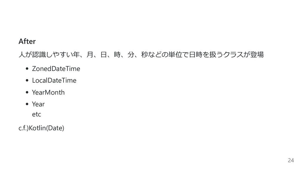 After ⼈が認識しやすい年、⽉、⽇、時、分、秒などの単位で⽇時を扱うクラスが登場 Zone...