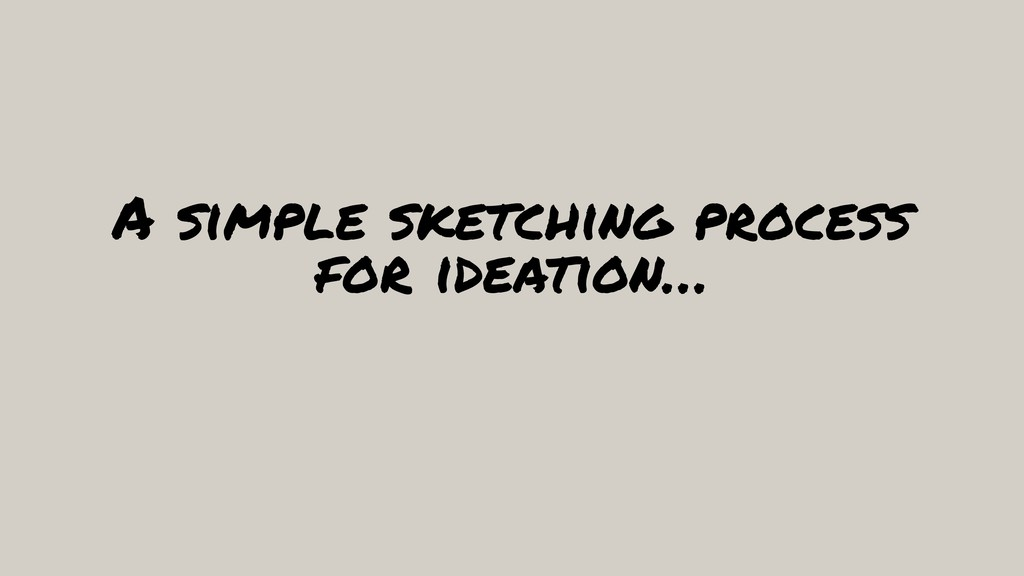A simple sketching process for ideation…