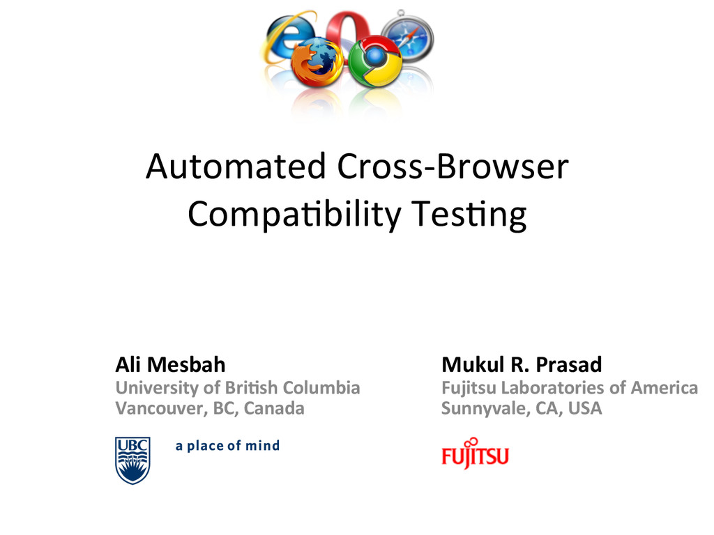 Automated Cross-‐Browser  Compa1bility...