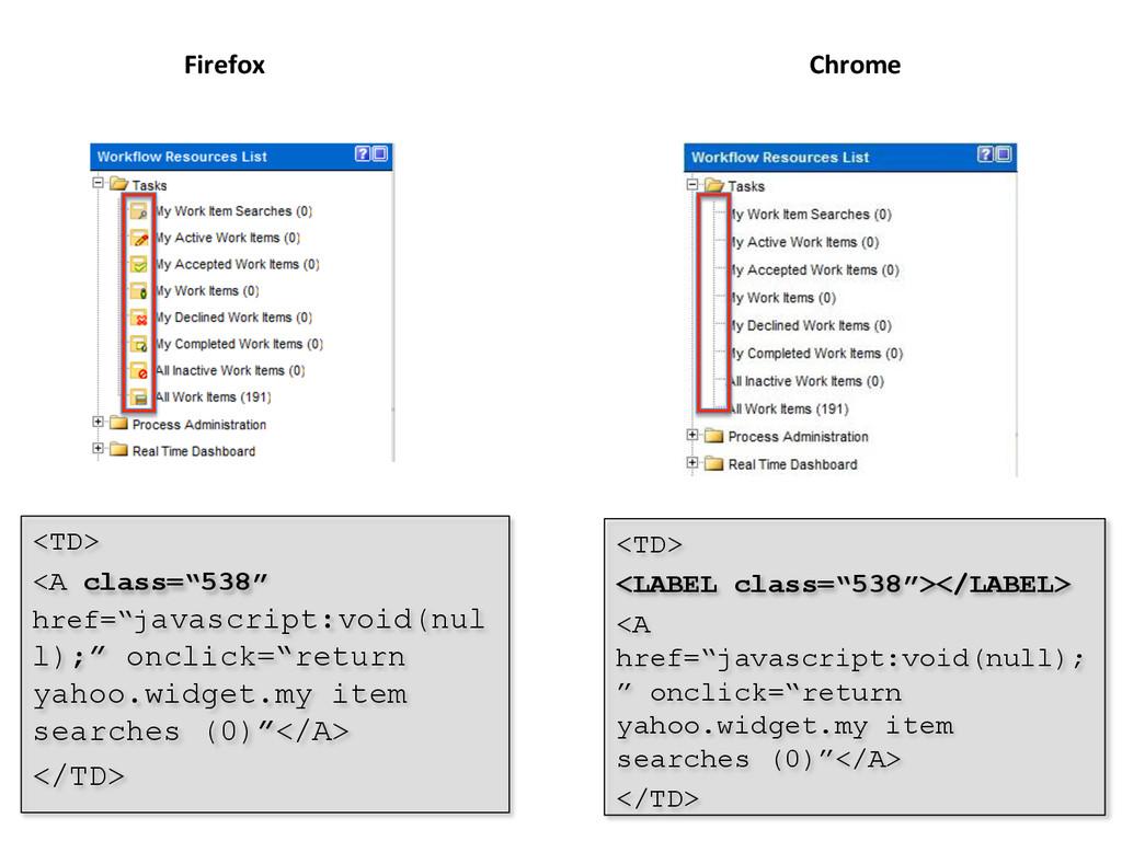 "Firefox  Chrome  <TD> <LABEL class=""538"">..."