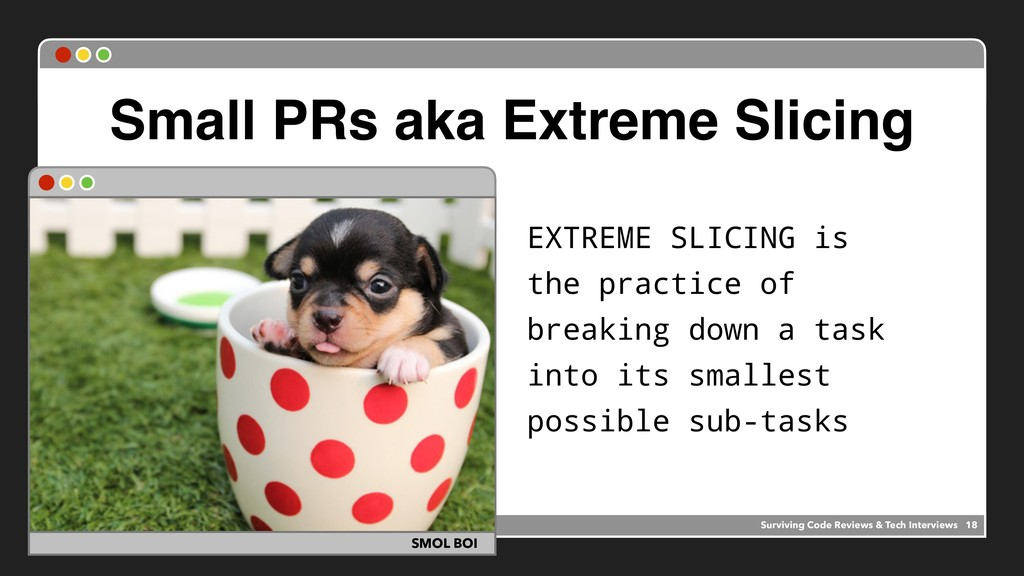 Small PRs aka Extreme Slicing EXTREME SLICING i...