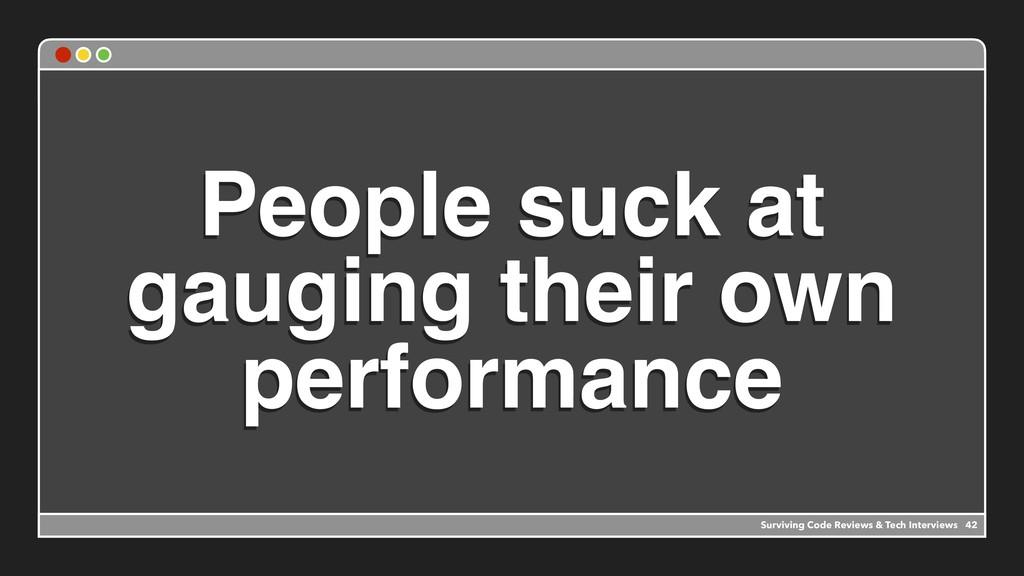 People suck at gauging their own performance Su...