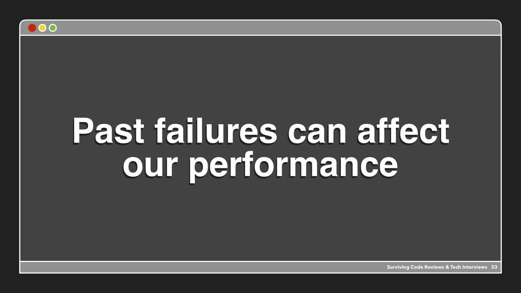 Past failures can affect our performance 53 Sur...