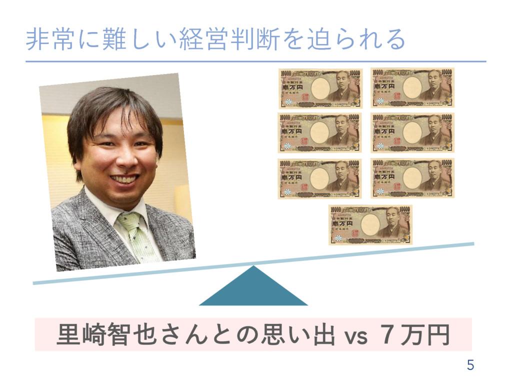 ඇৗʹ͍͠ܦӦஅΛഭΒΕΔ 5 ཬ࡚ஐ͞Μͱͷࢥ͍ग़ vs ̓ສԁ