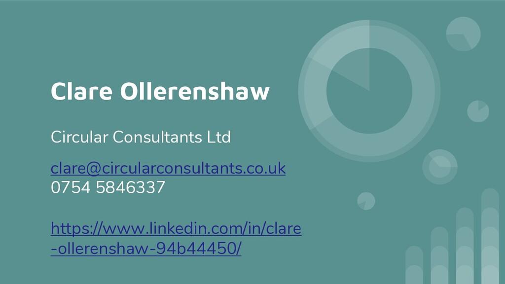 Clare Ollerenshaw Circular Consultants Ltd clar...