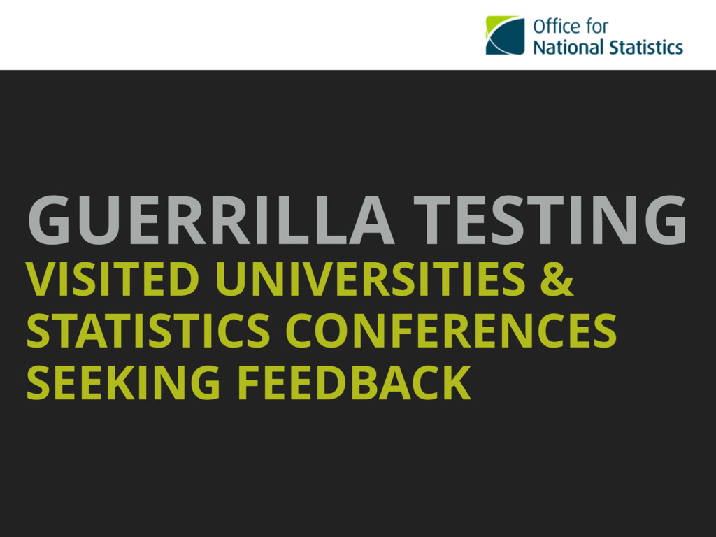 GUERRILLA TESTING VISITED UNIVERSITIES & STATI...