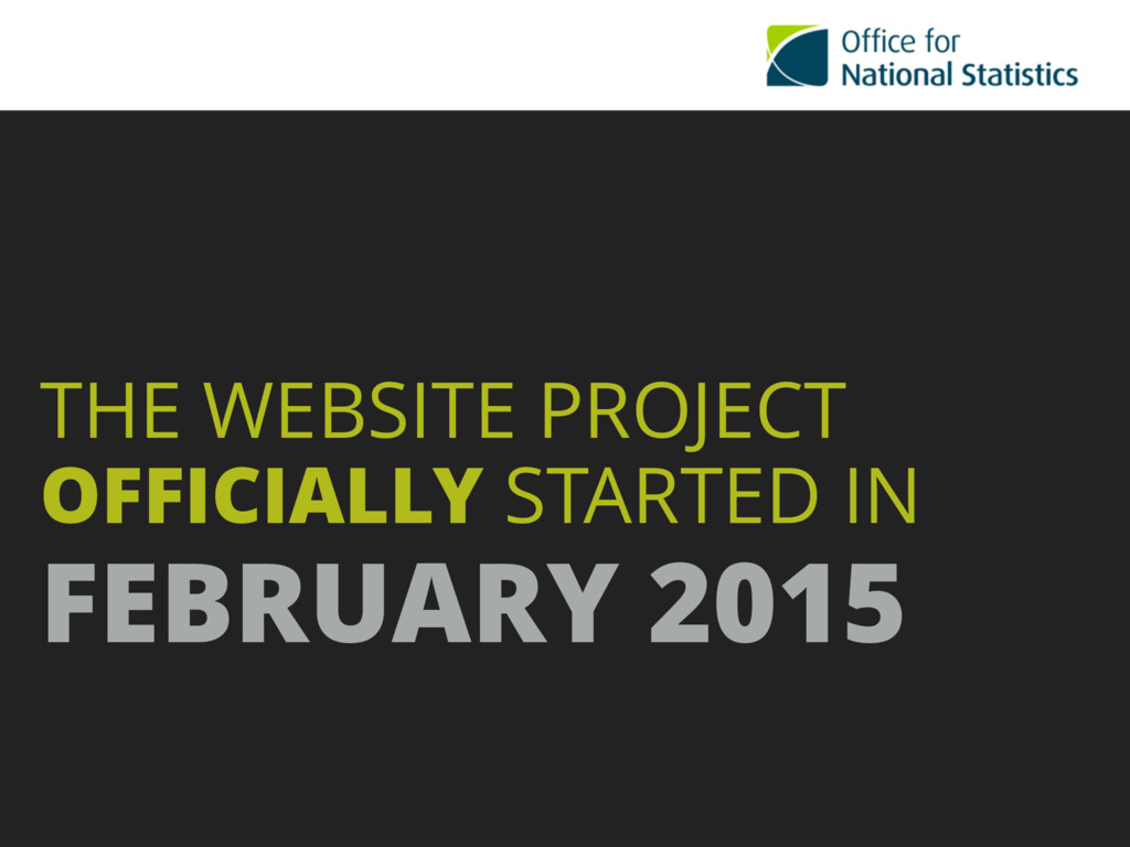 THE WEBSITE PROJECT OFFICIALLY STARTED IN  FEB...