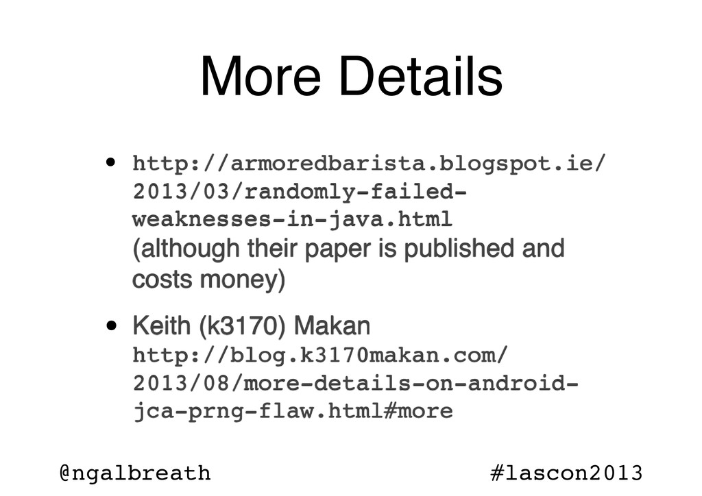 @ngalbreath #lascon2013 More Details • http://a...