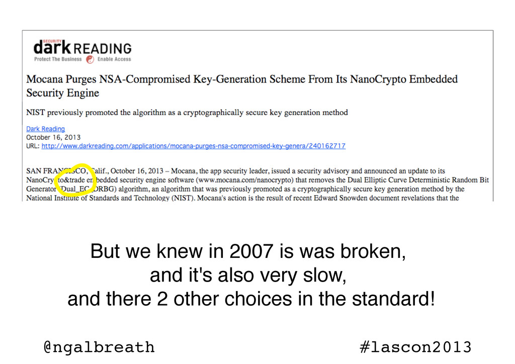 @ngalbreath #lascon2013 But we knew in 2007 is ...