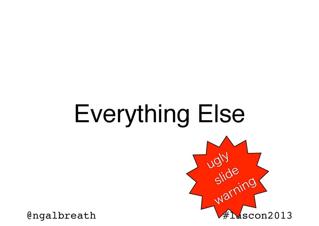 @ngalbreath #lascon2013 Everything Else VHMZ TM...