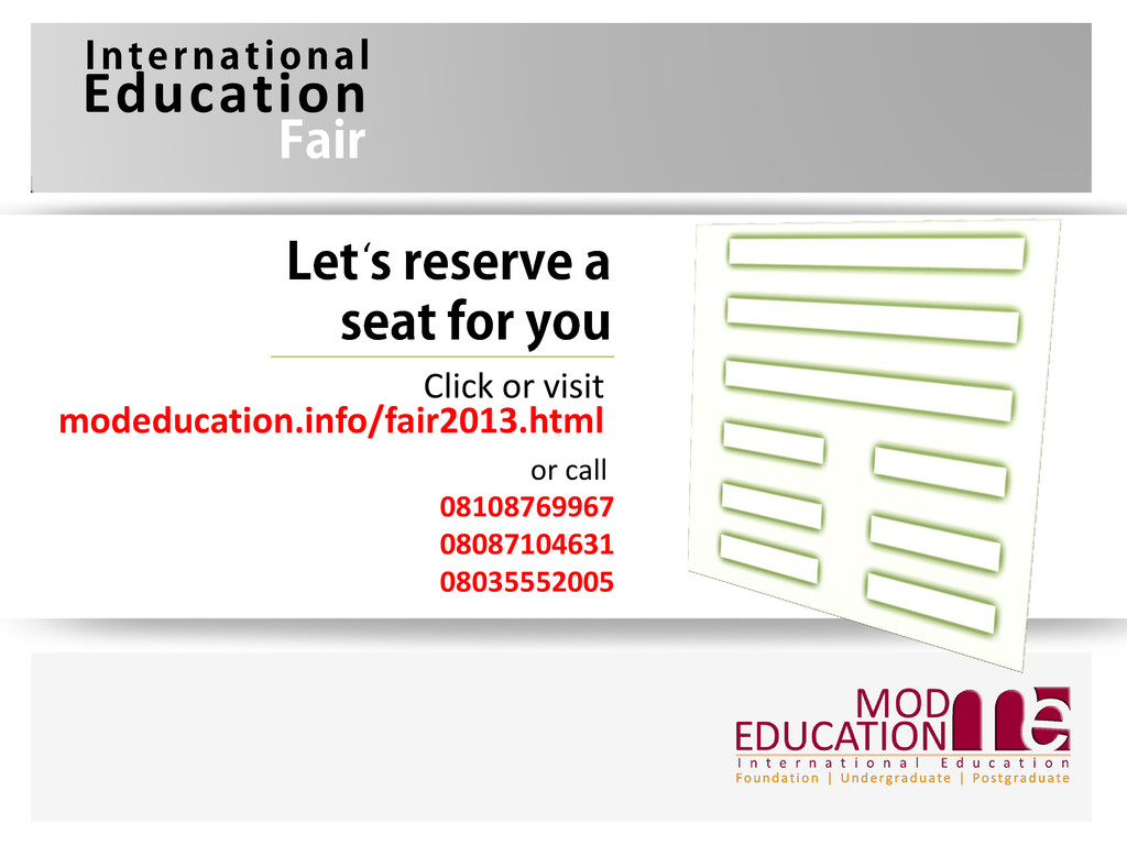 modeducation.info/fair2013.html Click or visit ...