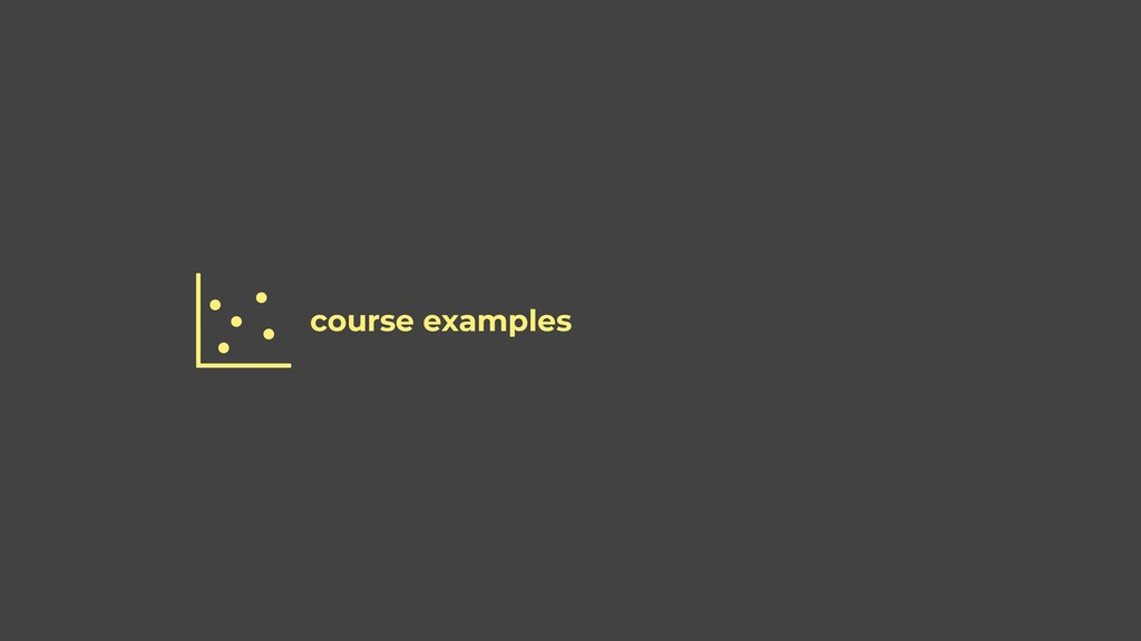 course examples