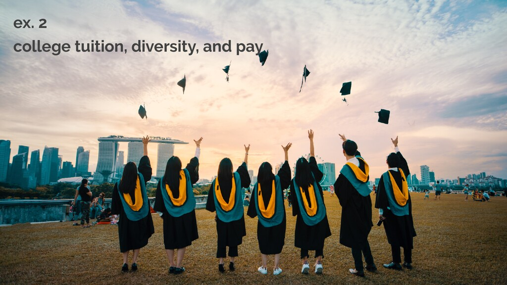 ex. 2   college tuition, diversity, and pay