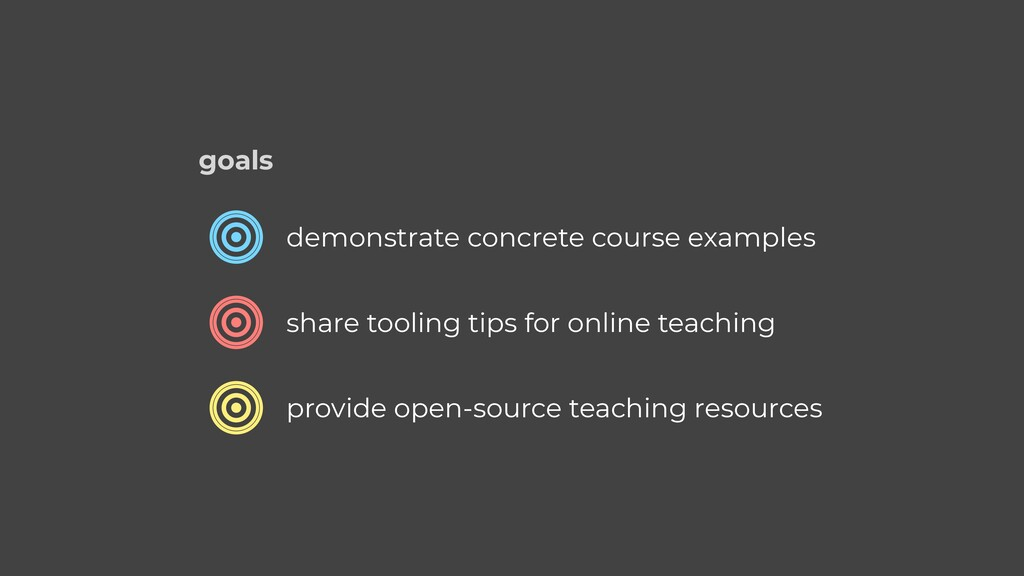demonstrate concrete course examples share tool...