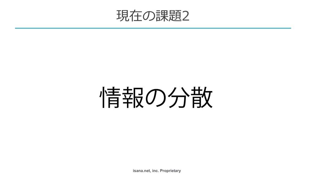 isana.net, inc. Proprietary ใͷ  現在の課題2