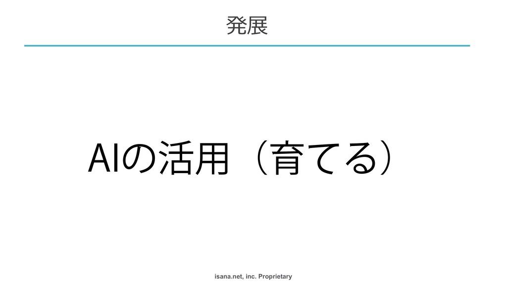 "isana.net, inc. Proprietary ""*ͷ׆༻ʢҭͯΔʣ  発展"