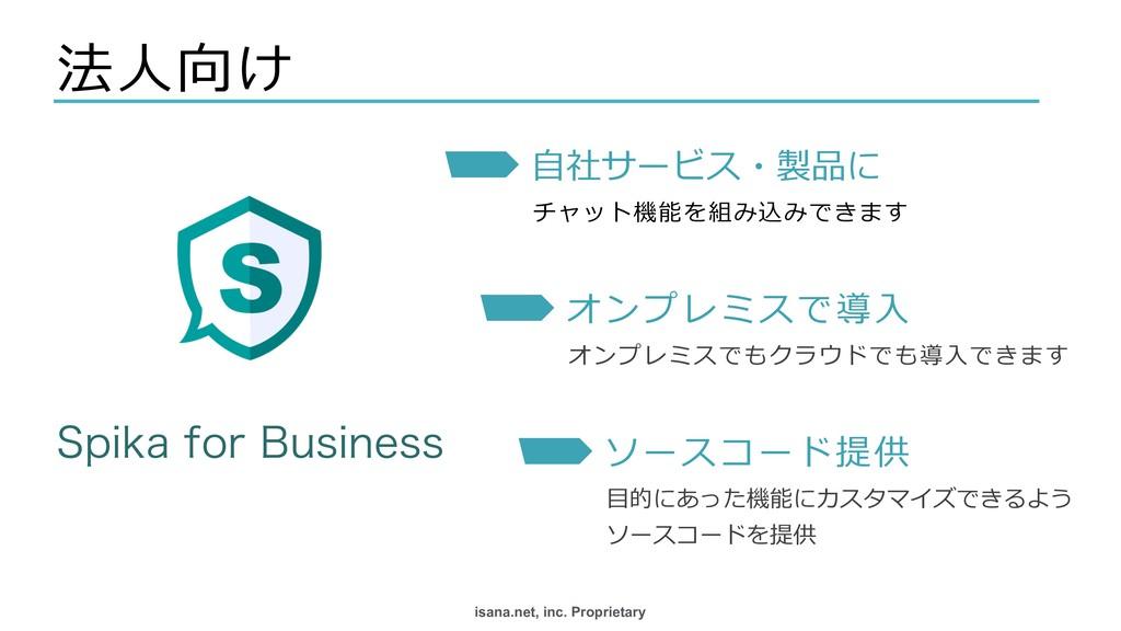 isana.net, inc. Proprietary 法⼈向け 4QJLBGPS#VTJ...