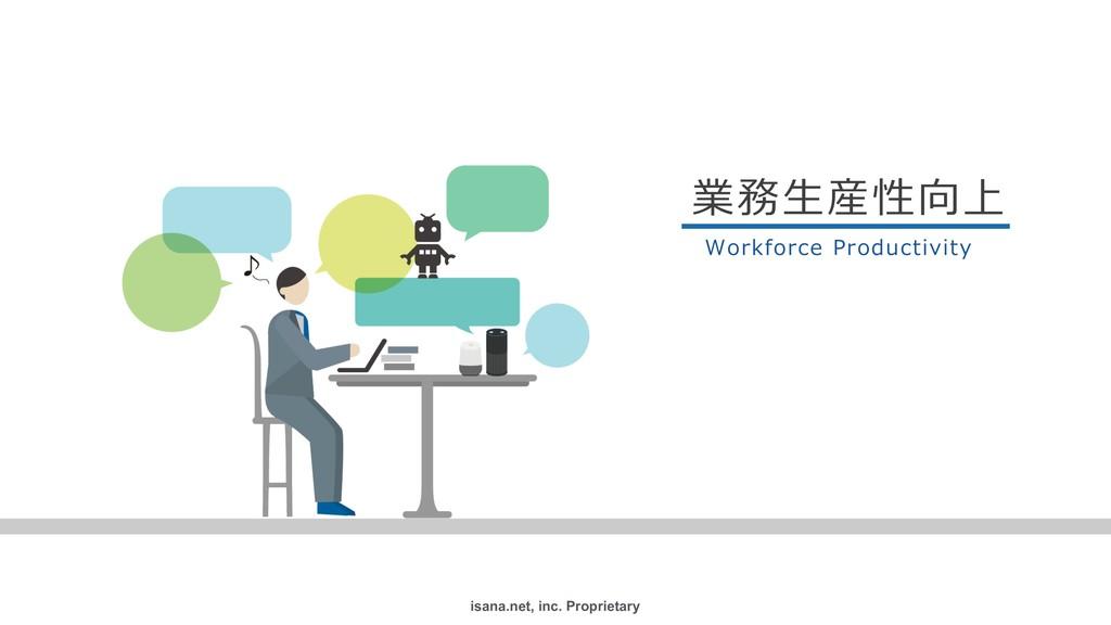 isana.net, inc. Proprietary ۀछ 業務⽣産性向上 Workf...