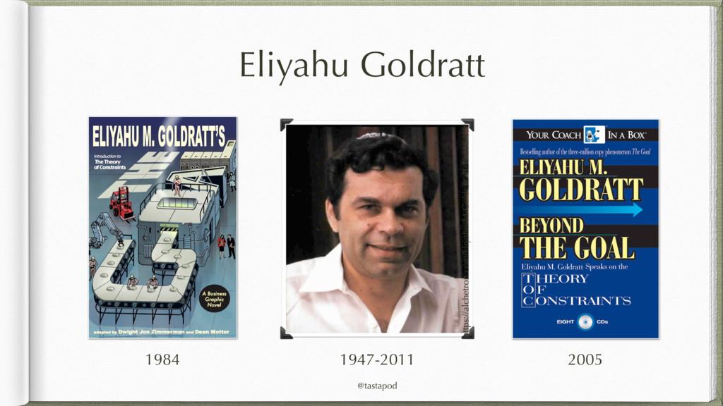@tastapod Eliyahu Goldratt https://alchetron.co...