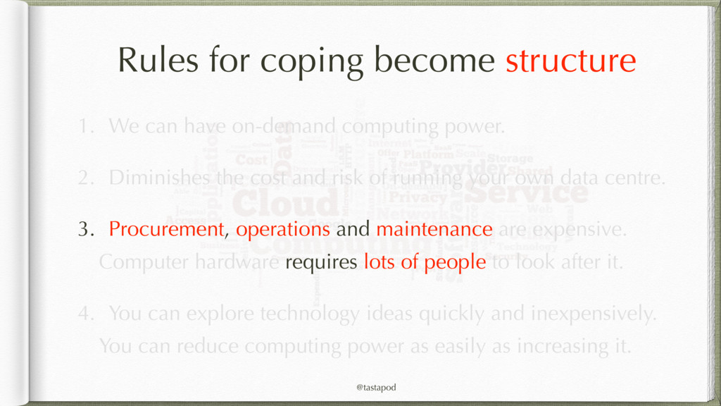 @tastapod Rules for coping become structure 1. ...