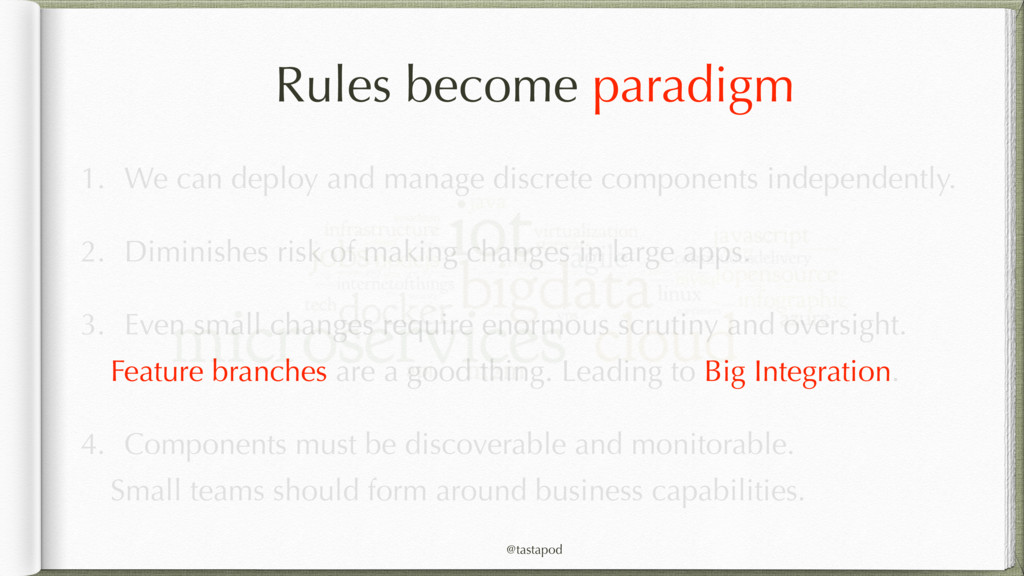 @tastapod Rules become paradigm 1. We can deplo...