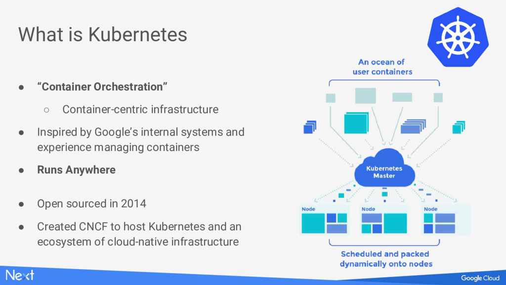 """● """"Container Orchestration"""" ○ Container-centric..."""