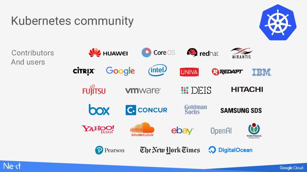 Contributors And users Kubernetes community