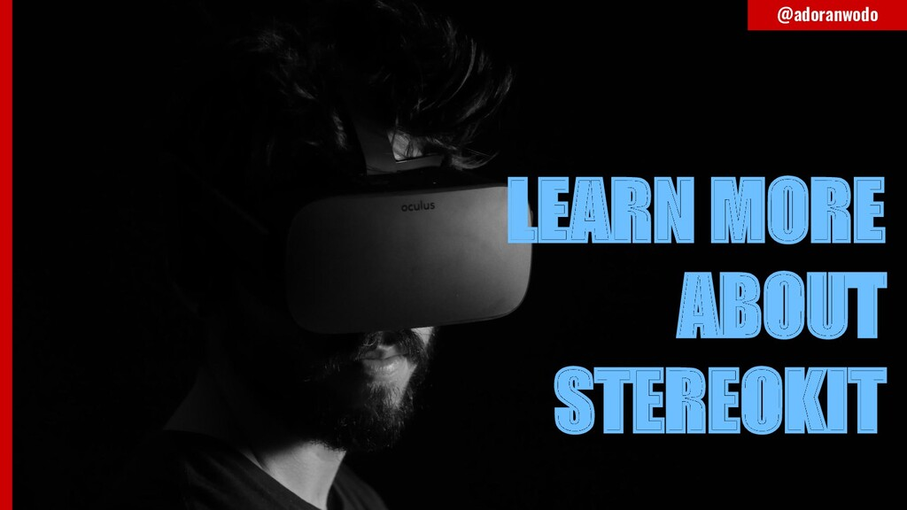 LEARN MORE ABOUT STEREOKIT @adoranwodo