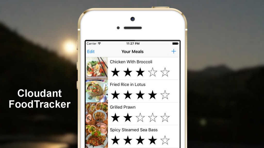 Cloudant FoodTracker