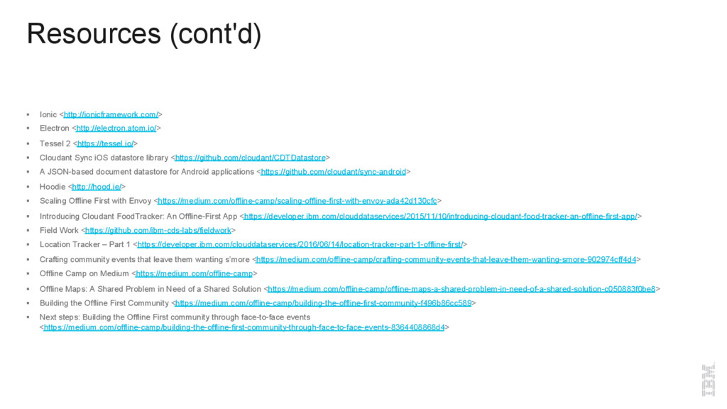 Resources (cont'd) §  Ionic <http://ionicframew...