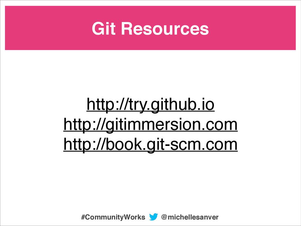 @michellesanver #CommunityWorks Git Resources h...