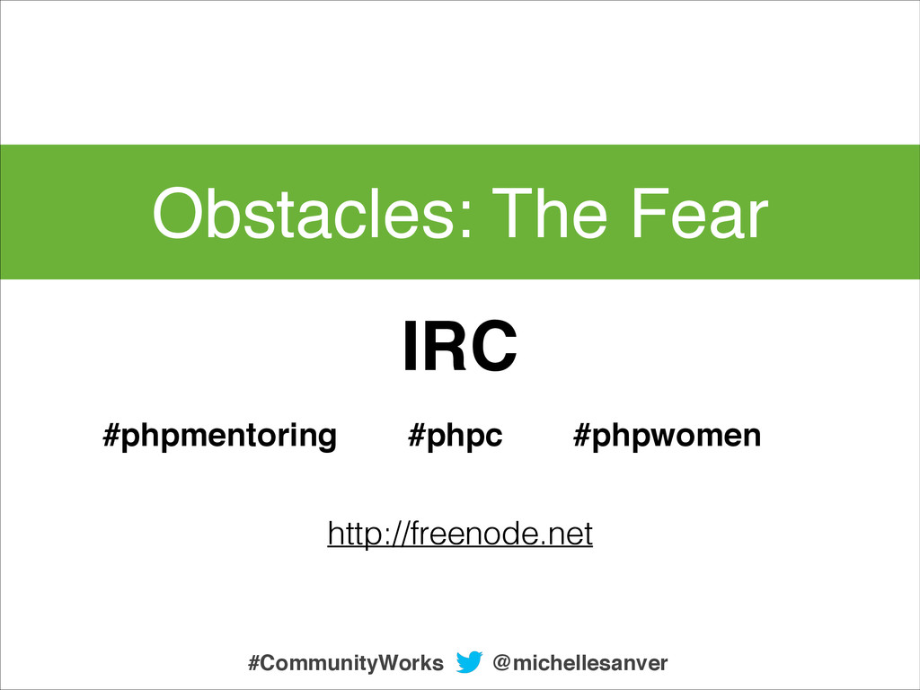Obstacles: The Fear @michellesanver #CommunityW...