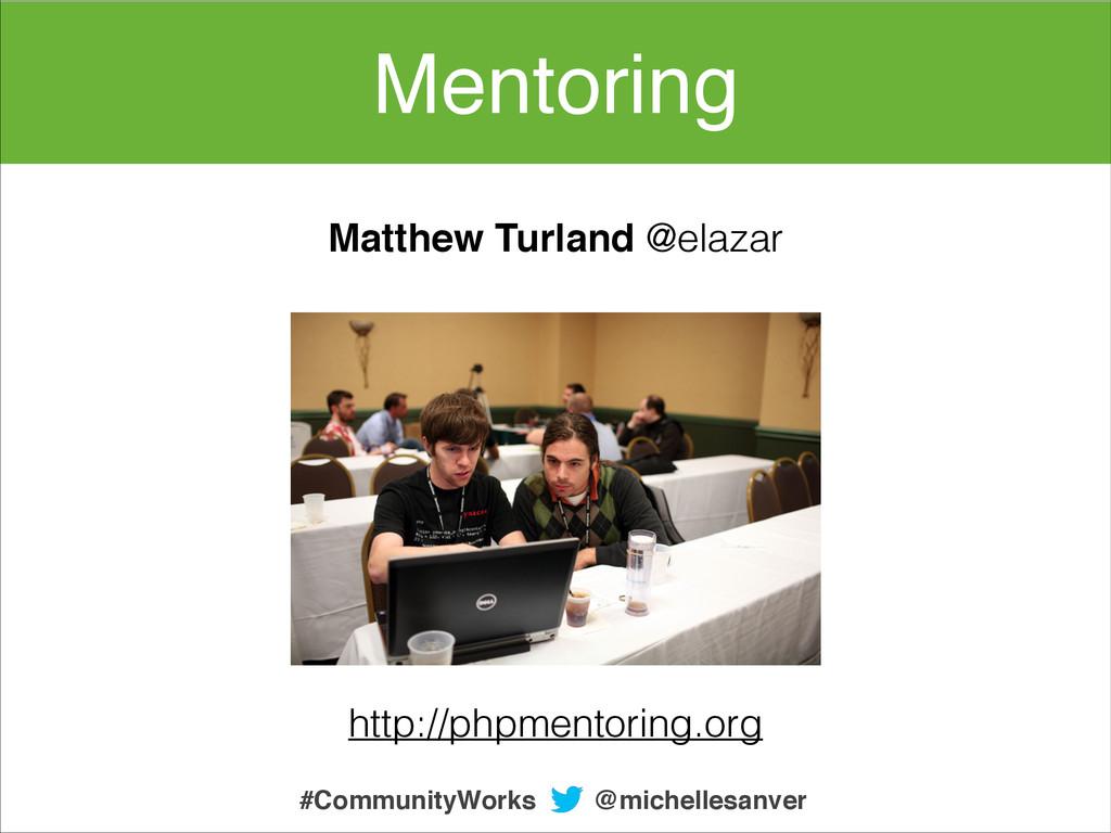 Mentoring @michellesanver #CommunityWorks http:...