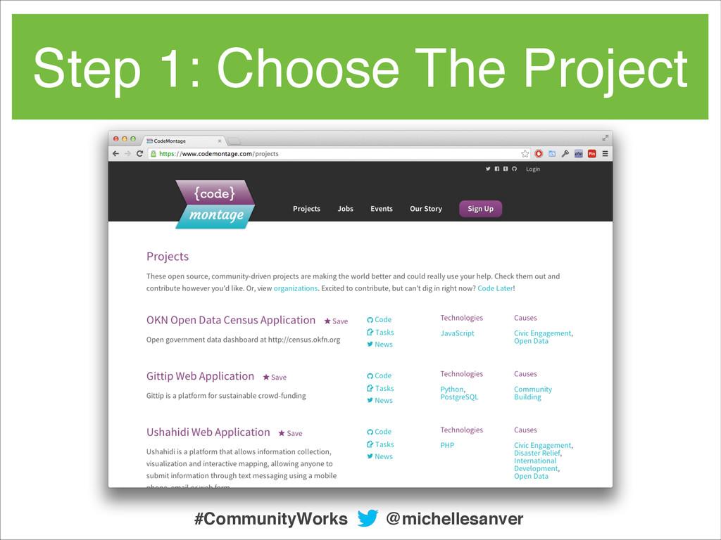 Step 1: Choose The Project @michellesanver #Com...
