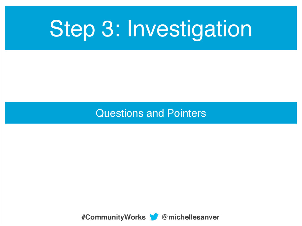 Questions and Pointers Step 3: Investigation @m...