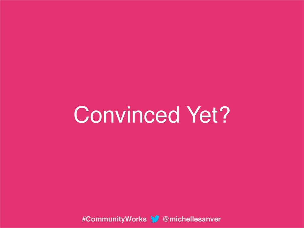 Convinced Yet? @michellesanver #CommunityWorks