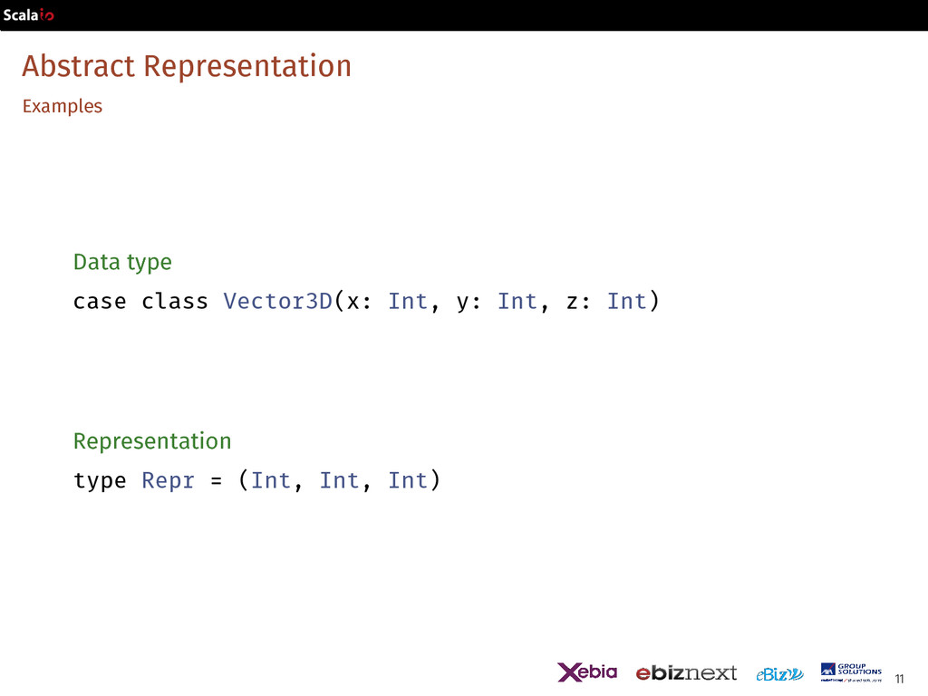 Abstract Representation Examples Data type case...