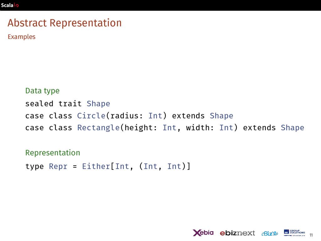 Abstract Representation Examples Data type seal...