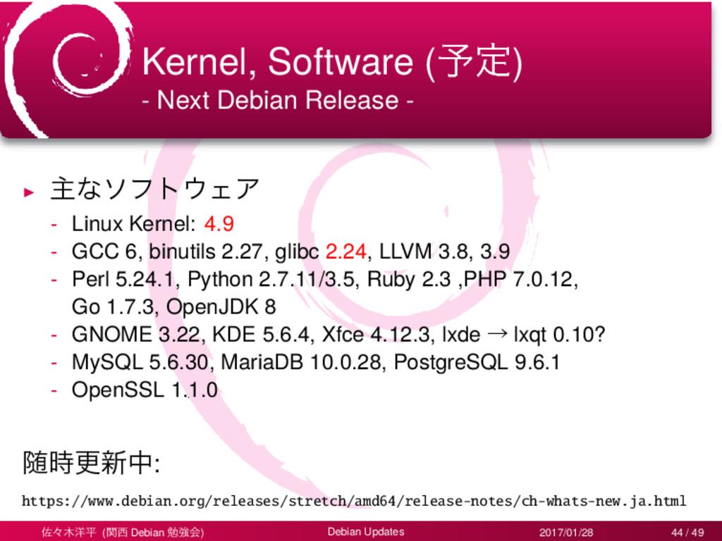 Kernel, Software (༧ఆ) - Next Debian Release - ▶...