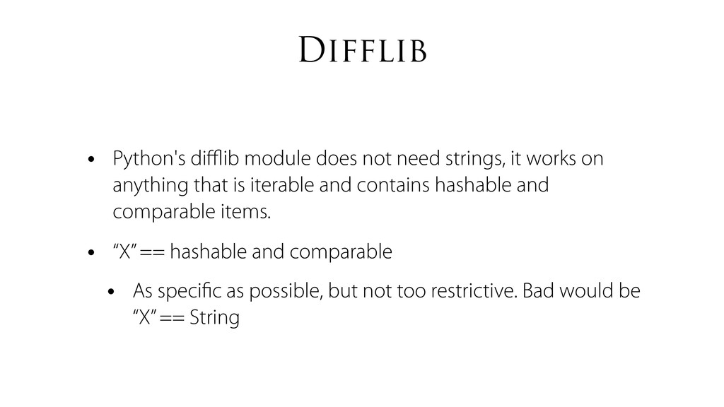 Difflib • Python's difflib module does not need s...