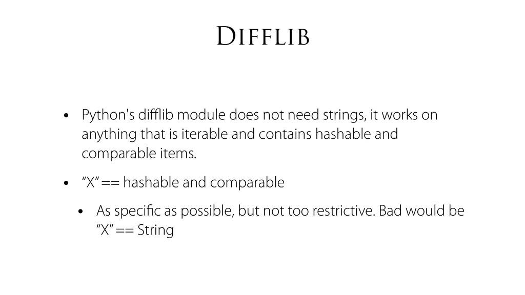 Difflib • Python's difflib module does not need s...