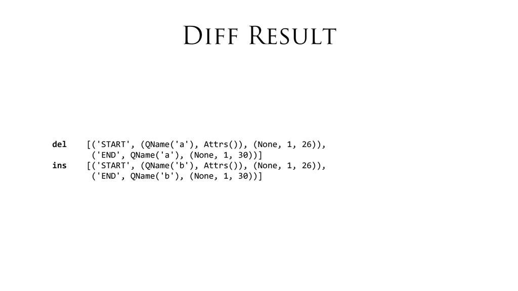Diff Result del    [('START', (Q...