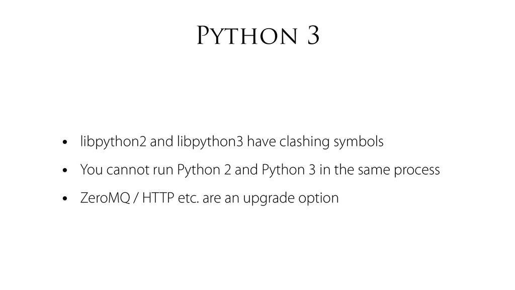 Python 3 • libpython2 and libpython3 have clash...
