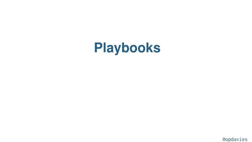 Playbooks @opdavies